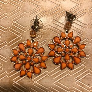 Bohemian Orange Earrings